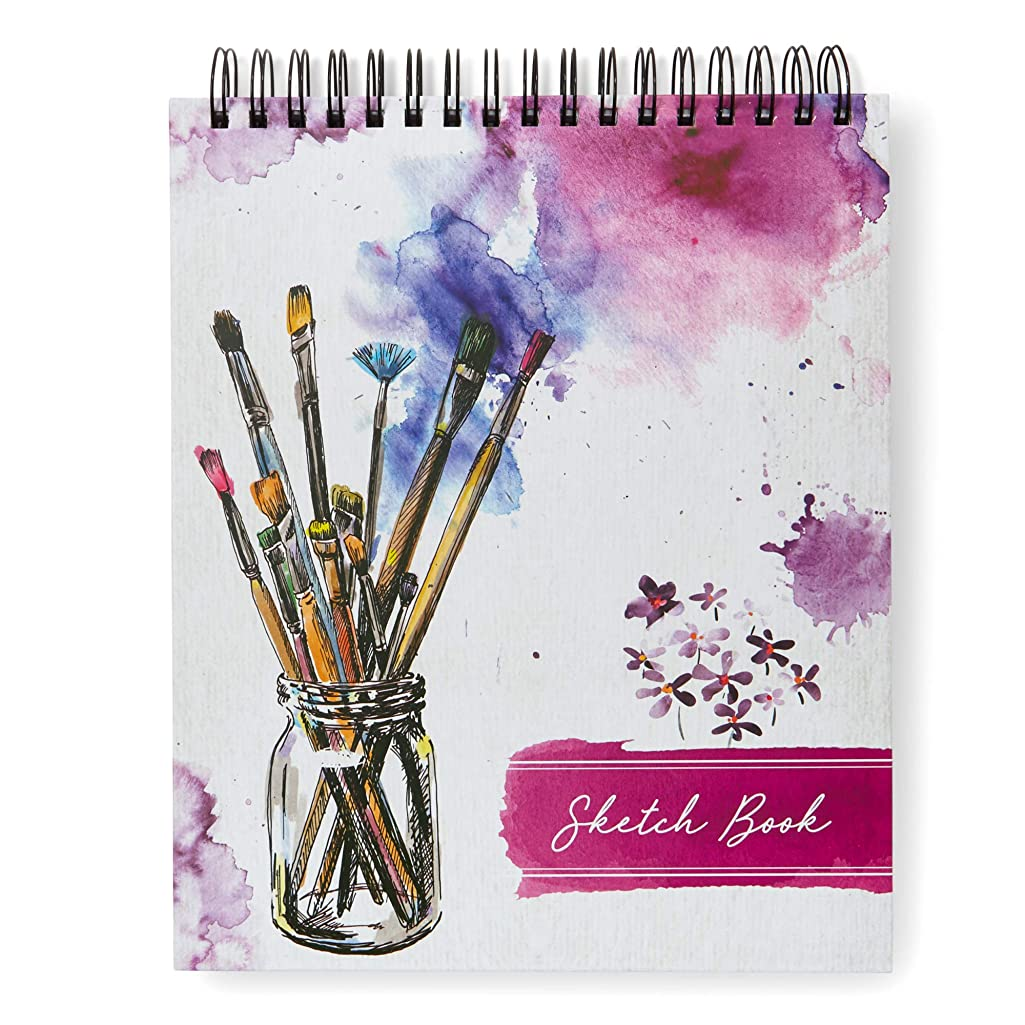 Tri-Coastal Design Sketch Book: Personalized Artist Sketchbook: Sketching, Drawing and Creative Doodling. Notebook and Sketchbook to Draw and Journal (Paint Brushes)