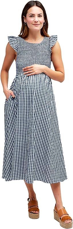 Harper Smocked Maternity Dress