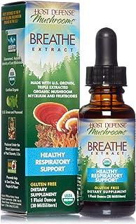 Host Defense, Breathe Extract, Respiratory Support, Mushroom Supplement with Cordyceps, Reishi and Chaga, Vegan, Organic, ...