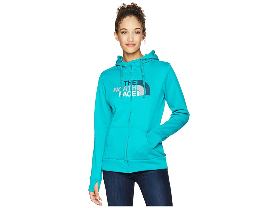The North Face Fave 1/2 Dome Full Zip 2.0 (Kokomo Green) Women