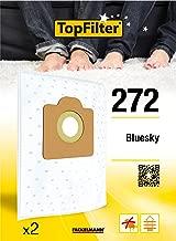 TopFilter Vacuum Cleaner Bags for Bluesky 272, 2box of Fleece Vacuum Bags, 2Dust Bags (30x 26x 0.1cm