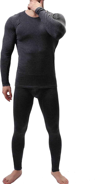 iYunyi Men's Ultra Soft Cationic Fabric Warm Thermal Underwear Long Johns Set