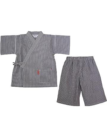 1c57e34dc90f4 日本製 綿の郷 ヒッコリー柄ちぢみ織カジュアル甚平 じんべい 子供 男の子