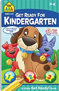School Zone - Get Ready for Kindergarten Workbook - Ages 3 to 6, Preschool to Kindergarten, Letters, Numbers, Shapes, Colo...