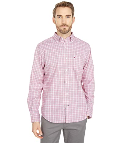 Nautica Classic-Fit Wrinkle-Resistant Plaid Shirt (Nautica Red) Men