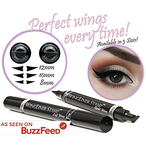 Eyeliner Stamp – Wingliner by Lovoir/Vogue Effects Black, Waterproof Make Up, Smudgeproof