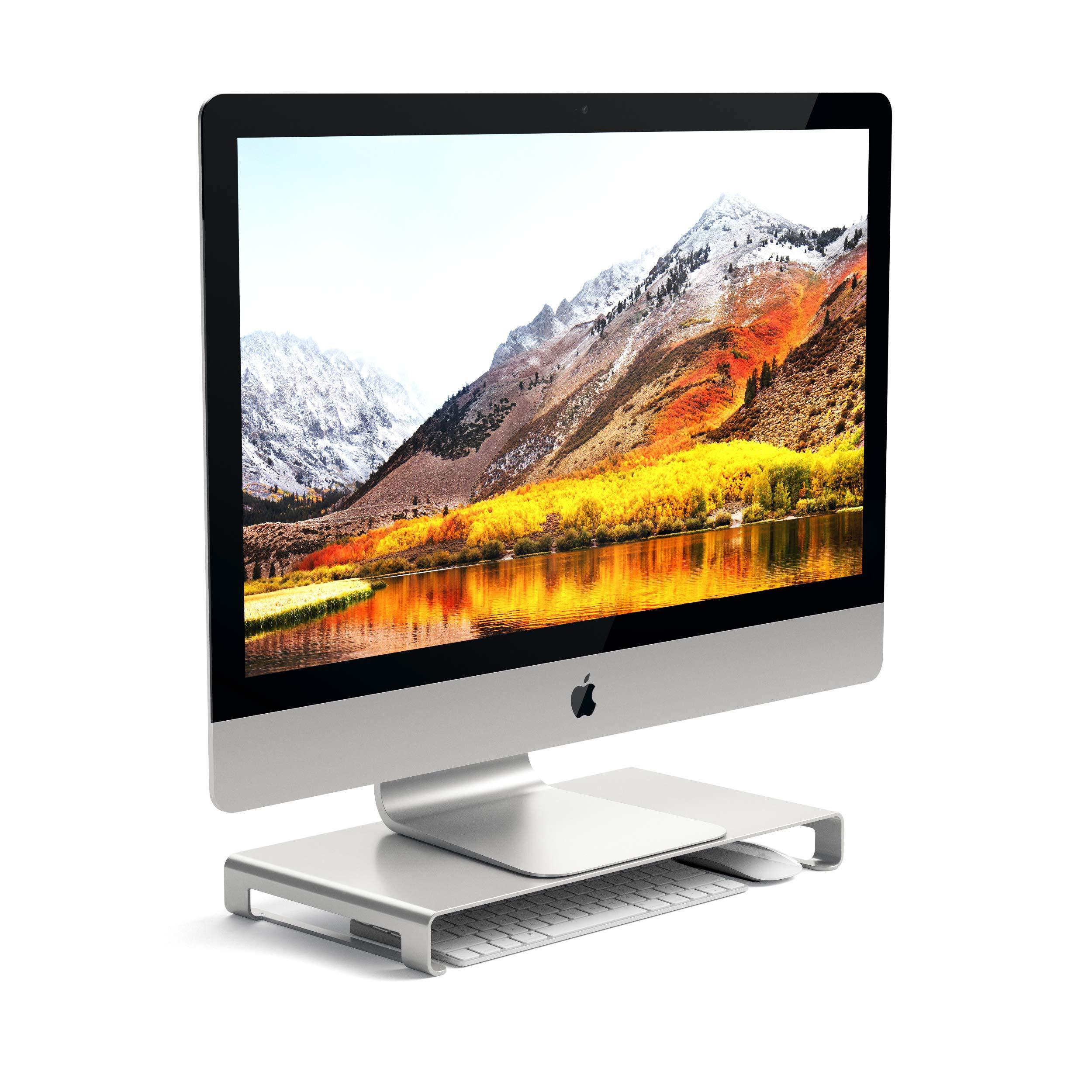 Satechi Soporte Universal de Aluminio para Monitor Compatible con 2017 MacBook Pro, iMac Pro, Google Chromebook, Microsoft Surface, DELL, ASUS y más (Plata): Amazon.es: Electrónica