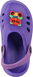 TRYME Clogs For Kids| Unisex Vibrant Clogs and Multi Deisgn on Top |Lightweight