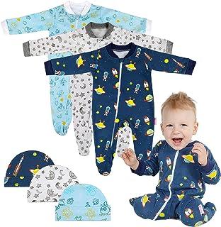 Lictin 6 Piezas Pijama para Bebé- Mameluco de Algodón con
