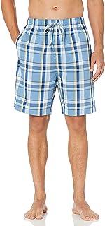 Nautica mens Soft Woven 100% Cotton Elastic Waistband Sleep Pajama Short Wh80s9