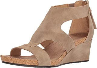 ADRIENNE VITTADINI Footwear Wohombres Tricia Wedge Sandal, Sand-ds, 8.5 Medium US