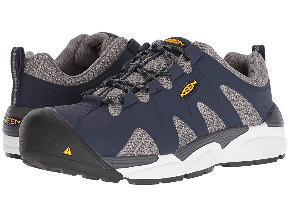 Keen Utility San Antonio Aluminum Toe (Navy Peacoat/Grey Flanel) Men