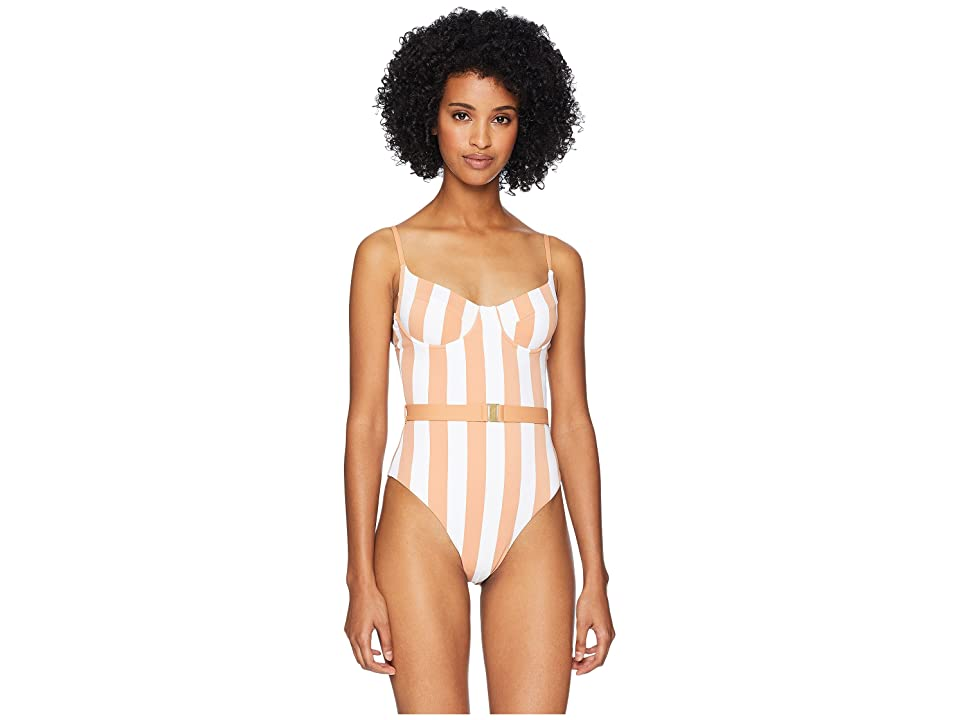 onia WeWoreWhat x onia Danielle One-Piece (Nude Bold Stripes) Women
