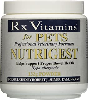 Rx Vitamins for Pets Nutrigest for Dogs & Cats - Helps Support Proper Bowel & Digestive Health - Veterinarian Formulated Probiotic - Powder 132g