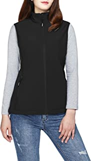 33,000ft Women's Running Vest Fleece Lined Zip Up Windproof Lightweight Softshell Vests Outerwear for Golf Hiking Sports