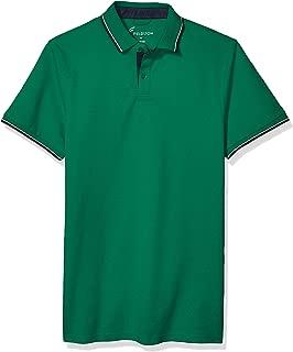 Fieldston Mens F1200-GE The Hopkins Retro Pique No Roll Collar Golf Polo Short Sleeve Golf Shirt