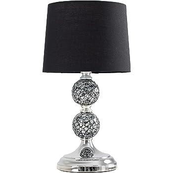 ZOE Crackle Mosaic Table Lamp Black: Amazon.co.uk: Lighting