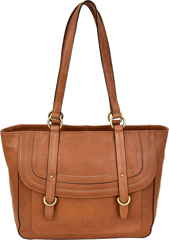 Womens Tan Leather Shoulder Bag Shopper Fashion Zip Top Handle Designer Handbag Anna