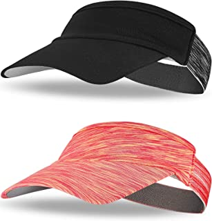 2 Packs Sun Visor Hat Visor Caps Sports Hat Lightweight Quick Dry Hat