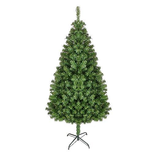 HOMFA 180cm Arbre de Noël Artificiel Sapin de Noël 850 Branches avec Pied en Métal pour la Fête de Noël Maison Cour (180cm)