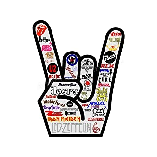 Iconic Rock Bands Logo Poster Print-8 x 10