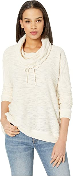 At Your Leisure French Terry Cowl Neck