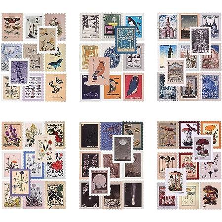 276 feuilles Scrapbooking Autocollant Autocollant Papier Autocollant de timbre-poste vintage Autocollant d'étanchéité Autocollants de planificateur Décoration rétro pour Notebook Diary DIY (Antique)