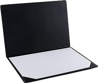 Pavo 8046607 - Vade de sobremesa, piel sintética, 50 x 35 x 1 cm, color negro