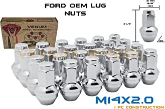 24 Pc Ford 6x135 Chrome OEM Factory Style Replacement Lug Nuts M14x2.0 Fits 2004 2005 2006 2007 2008 2009 2010 2011 2012 2013 2014 Expedition F-150 Raptor
