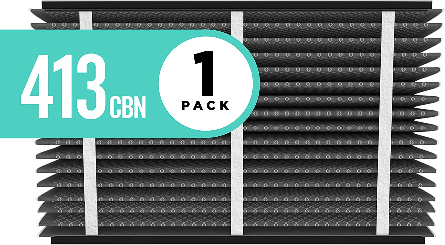 Aprilaire 413CBN Odor Reduction Air Filter for Aprilaire Whole-Home Air Purifiers, MERV 13, for Odors and Most Common Allergens (Pack of 1)