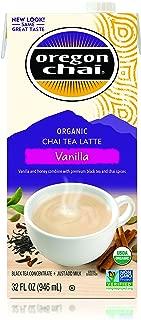 Oregon Chai Vanilla Chai Tea Latte Concentrate 32-Ounce Boxes (Pack of 6), Liquid Chai Tea Concentrate, Spiced Black Tea For Home Use, Café, Food Service