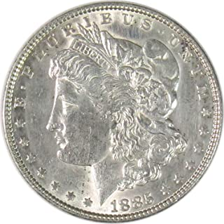 1885 P Morgan Silver Dollar $1 About Uncirculated