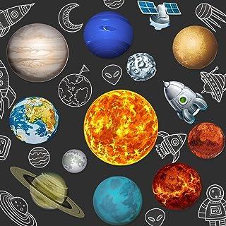 13 Piezas de Suministros para Fiestas del Sistema Solar, 2 Lados Recortes Impresos del Sistema Solar Recortes Planetarios ...
