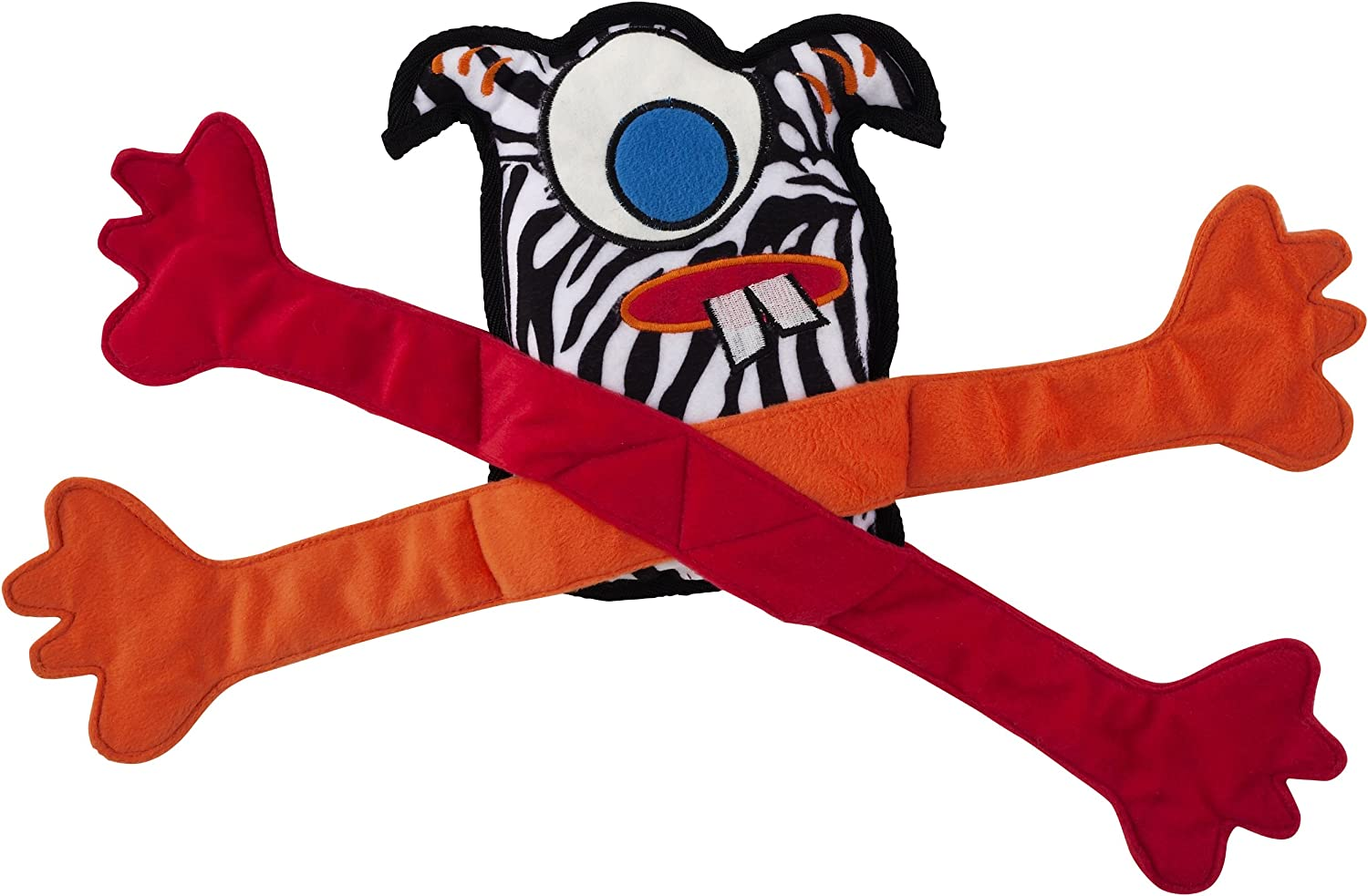 Doggles Krazy Creature Zebra Cyclops Toy for Dogs