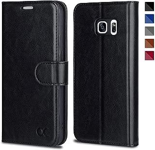 OCASE Samsung Galaxy S7 Case [ Card Slot ] [ Kickstand ] Leather Flip Wallet Case for Samsung Galaxy S7 - Black
