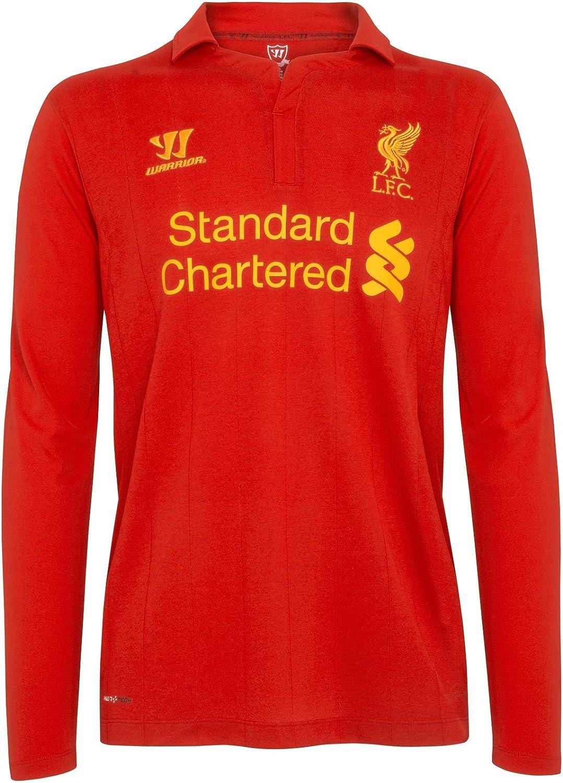 FC Liverpool Warrior Messieurs Hommes Football Fan Haut T-Shirt Rouge Blanc Nouveau