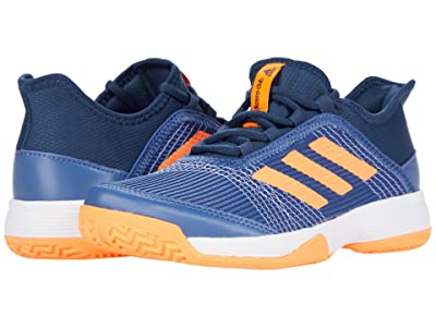 adidas Kids Adizero Club Tennis (Little Kid/Big Kid) (Crew Blue/Screaming Orange/Crew Navy) Kids Shoes