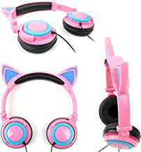 DURAGADGET Cat Headphones with Light Up Ears (in Pink) Compatible with VTech Innotab 3, VTech Innotab 3S