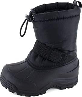 Moodeng Kids Snow Boots Boys and Girls Frosty Waterproof Shoes Winter Cold Weather Outdoor Boots Little Kid//Big Kid