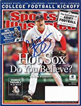 AUTOGRAPHED Curt Schilling 2014 SPORTS ILLUSTRATED (Hot Sox: Do You Believe?) Signed Collectible 9X11 Inch MLB Baseball SI Magazine with COA