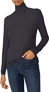 Daily Ritual Amazon Brand Women's Rayon Spandex Fine Rib Long-Sleeve Layering Turtleneck