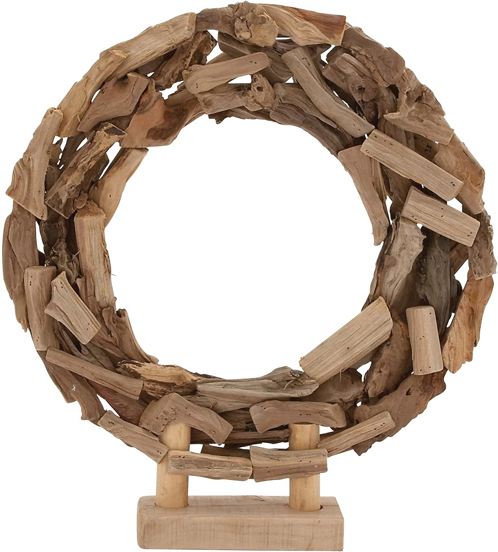 Benzara 76334 The Beautiful Wood Circle Decor