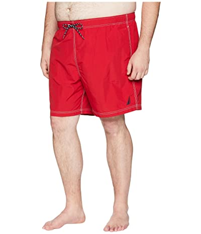 Nautica Big & Tall Big Tall Anchor Swim Trunk (Nautica Red) Men