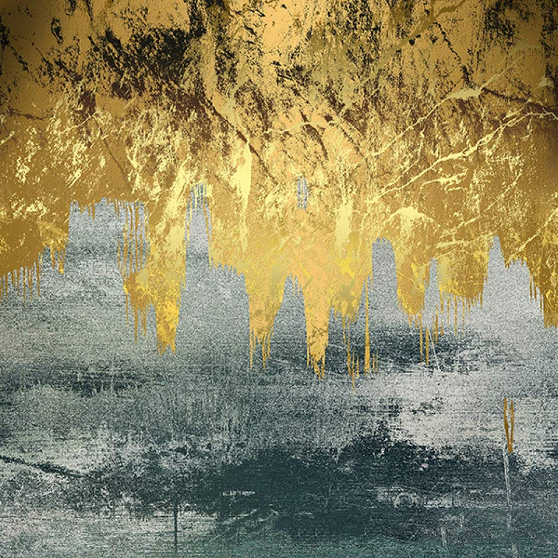 Sweety Rahmenlose Ölgemälde Gold abstrakte abstrakte abstrakte Landschaft Malerei Dekoration zeichnen Kern 40  40cm (3er Pack) B07L9ZBZDP e055bb