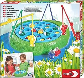 Noris 606066956 - Fiskespel 28 Fiskar - 4 Fiskespön, 32x28 cm, Från 3 år