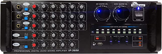 IDOLpro IP-3600 Professional Digital Echo Mixing Amplifier with Bluetooth & Recording