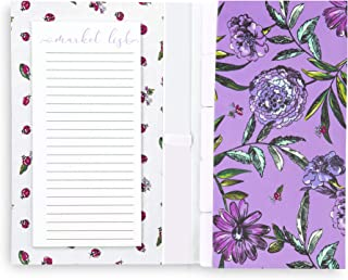 Vera Bradley Market Organizer with Shopping List and File Folders (Lavender Meadow)