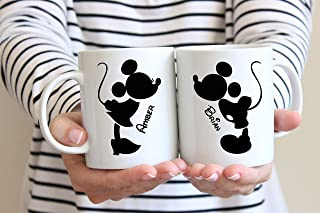 Mickey and Minnie Mouse Coffee Mugs, Wedding Gift, Anniversary Gift, Couple's Mugs, Wedding Gift, Bride and Groom, Disney Wedding, 11oz, 15oz, gift