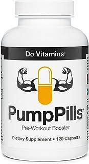 PumpPills Nitric Oxide Supplements for Men & Women - L Citrulline L Arginine Supplement - Stimulant Free Pre Workout Pills...