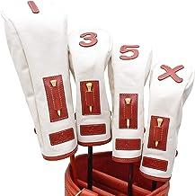 K& HC-TEE CLASSIC ヘッドカバーセット 栃木レザー(赤レンガ色)× 帆布(生成り色) レザー×キャンバス